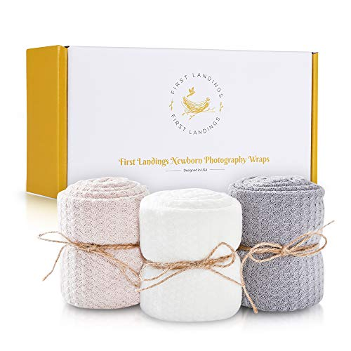 First Landings Baby Wrap | Set of 3 Premium Knit Wraps | Newborn...