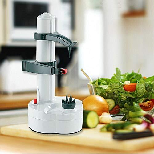 Kartoffelschäler Elektrischer Obstschäler- Schälmaschine Für Gemüse Obst Kartoffel- Automatische rotierende Früchte(Weiß)
