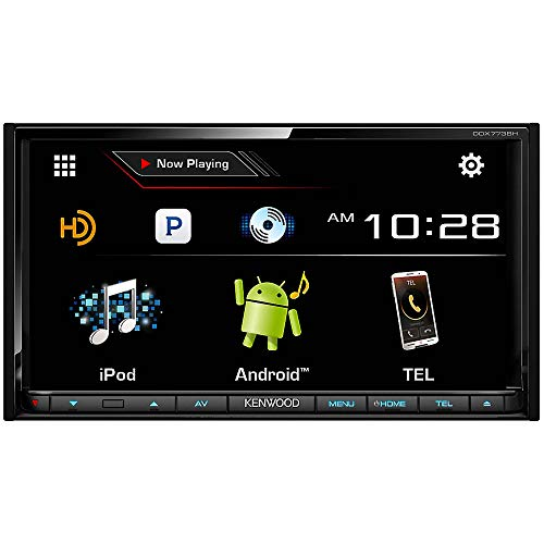 Kenwood DDX773BH 6.95' in Dash Touchscreen DVD CD Receiver with Built in Bluetooth, AM/FM Tuner and HD Radio
