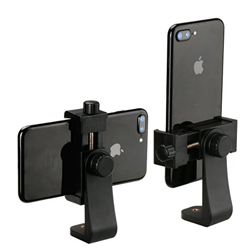 Ulanzi treppiede verticale staffa supporto per smartphone/tablet/telefono clip Clipper compatibile per iPhone Samsung Smart 2–1/4–3–5/20,3cm Wide (adattatore di montaggio)