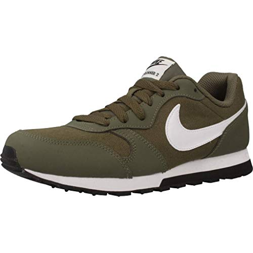 Nike MD Runner 2 (GS), Zapatillas de Gimnasia Unisex Niños, Verde (Medium Olive/White/Black 201), 40 EU