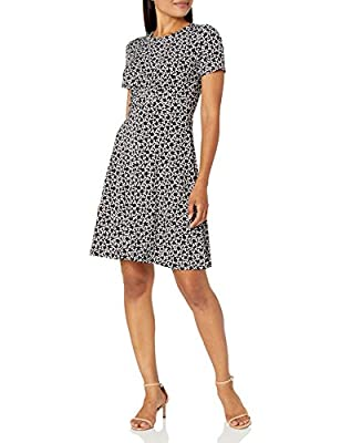 This versatile short-sleeve fit and flare dress distinguishes with a stylish twist front Bring style and confidence to your everyday wardrobe with polished essentials and wear-to-work staples from Lark & Ro Check out more dresses, tops and sweaters f...