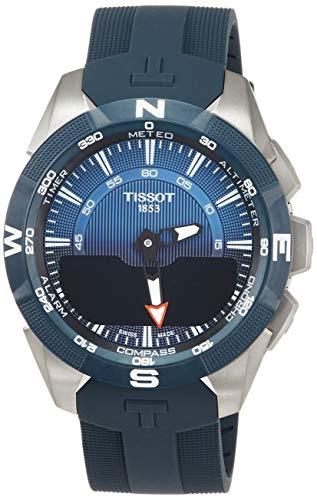 Tissot Herren-Uhren Analog Quarz, solar One Size Kautschuk 87249301