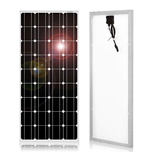 DOKIO Panel Solar Monocristalino 100W 12V,ALTA EFICIENCIA,ROBUSTO...