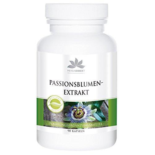Passionsblumen Extrakt Kapseln - vegan - hochdosiert - Passiflora incarnata - 90 Kapseln