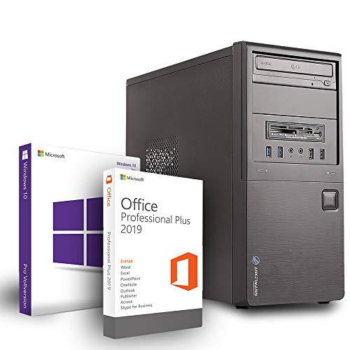 Ankermann Business Office Work Gamer PC Intel Core i7 3770 4X 3.40GHz NVIDIA GeForce GTX 1650 4GB 16GB RAM 480GB SSD 500GB HDD Windows 10 Pro W-LAN Office Professional