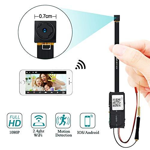 Minikamera WiFi, UYIKOO HD 1080P Kamera WLAN IP Kamera Unterstützung Bewegungserkennung für Haussicherheit Nanny Cam Remote View