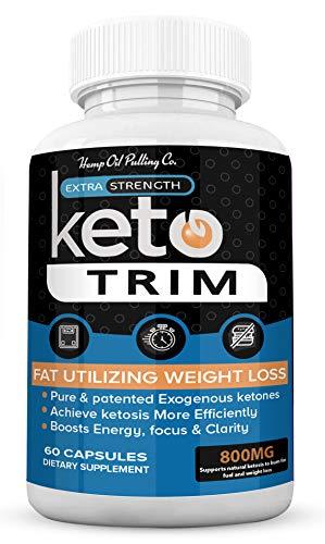 (3 Pack) Keto Trim Pills 800, Trim Fast Keto Pill Weight Loss Diet for Energy, Focus - Exogenous Ketones for Rapid Ketosis - Ketogenic BHB for Men Women (180 Capsules) 2