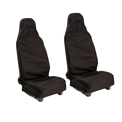 Universal Auto Schonbezug sitz, Sitzabdeckung Vordere sitzbezug Schutz, Wasserdicht Staubdicht Hochwertige Sitzauflage für Ihren (Schwarz)