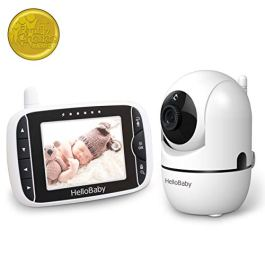 "Baby Monitor with Remote Pan-Tilt-Zoom Camera and 3.2"" LCD Screen, Infrared Night Vision"