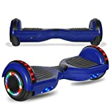 cho Colorful Wheels Series Hoverboard Safety Certified Hover Board Electric Scooter with Built in Speaker Smart Self Balancing Wheels (Blue)