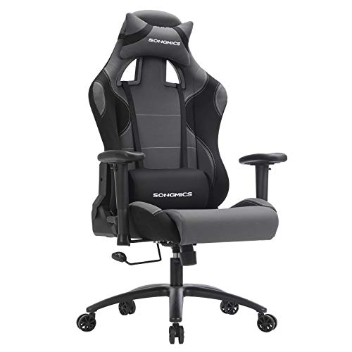 SONGMICS Chaise Gamer Fauteuil de Bureau Racing, 52 X 56,5 X (128-138) cm