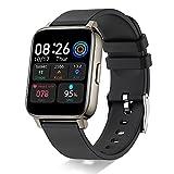 """Smartwatch, Reloj Inteligente Hombre Mujer 1,69"""" Deportivos, Pulsera Actividad Reloj Sport con Pulsómetro Monitor de Sueño Monitores Calorías Podómetro IP68 Impermeable Negr Watch para Android iOS"""