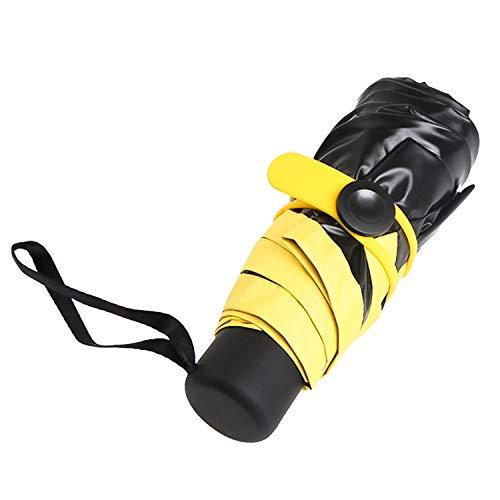 Mini Regenschirm Taschenschirm,Maltsky UV-faltender Sonnenschirm Reiseschirm Golfschirm,Tragbar Klein Leicht Kompakt Wasserdicht Windsicher 99{9cc364384106ad5d4db2954c93c89657a5d78fd24a6455712d4a5819a6c24fb1} UV-Schutz für Männer Frauen Kinder (Gelb)