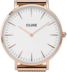 CLUSE Womens Analogue Classic Quartz Connected Wrist Watch with Stainless Steel Strap CL18112