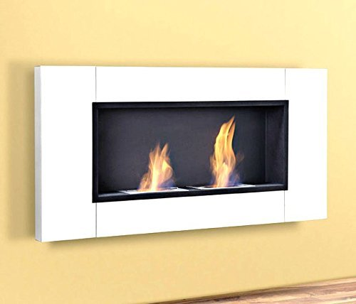 Luxury Gel Fireplace 110 cm Wall-mounted Fireplace Bio Ethanol White