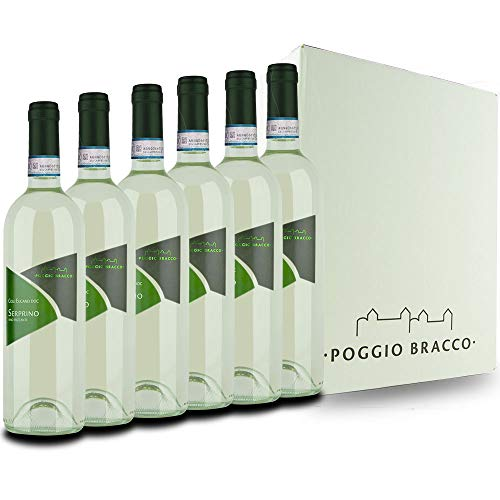 Poggio Bracco - Serprino frizzante Colli Euganei DOC - Vino tipico Veneto frizzante tradizionale da pasto   6 x 750 ml