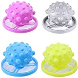 4 Pack Floating Pet Fur Catcher Household Pet Hair Washing Machine Collector Reusable Lint Removers Floating Traps Mesh Bag Filter Net Pouch
