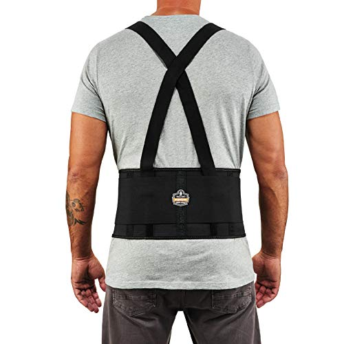 Ergodyne ProFlex 1650 Back Support Belt, 7.5' Elastic, Adjustable, Removeable Straps, XL