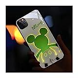 発光電話ケース IPhone12 用 ケース IPhone12Pro 用 ケース 6.1インチ 着信光る 薄型 黄変防止……
