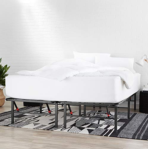 AmazonBasics Foldable, 14' Metal Platform Bed Frame with Tool-Free Assembly, No Box Spring Needed - Twin