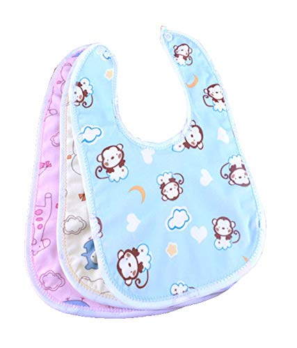 MY NEWBORN Baby Bibs Apron for Baby boy and Girl Assorted- Pack of 3