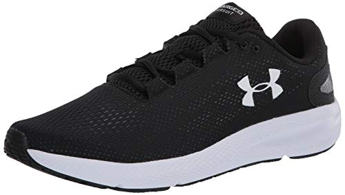 Under Armour mens Charged Pursuit 2 Running Shoe, Black/White,...