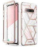 i-Blason Cosmo Designed for Galaxy S10 Case Stylish Glitter Protective Bumper Case Without Built-in Screen Protector for Galaxy S10 2019 Release (Marble) (GS-X-Cosmo-Marble)