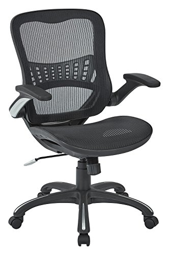 Office Star Mesh Back & Seat, 2-to-1 Synchro...