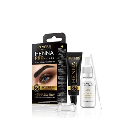 Color de cejas y pestañas negro 1.0 Bio fórmula crema 15 ml + activador 15 ml