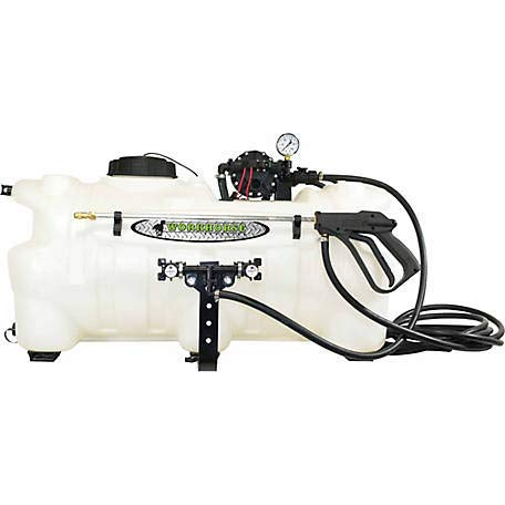 Workhorse ATV25BL 25 Gallon Boomless Sprayer [White] Adjustable Spray Nozzle - 24 ft. Coverage ATV Sprayer for Tree Lines, Fenced Areas, Ditches