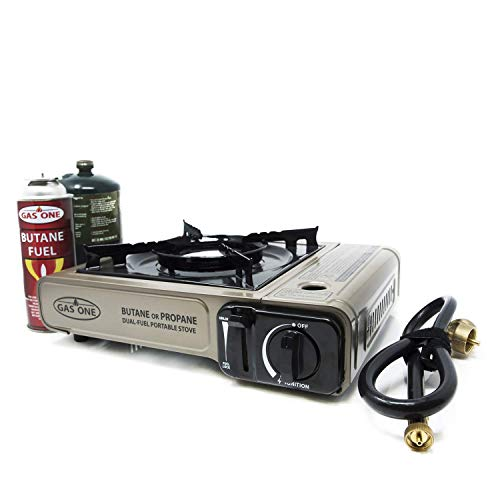 Gas ONE Propane or Butane Stove GS-3400P Dual Fuel Portable...