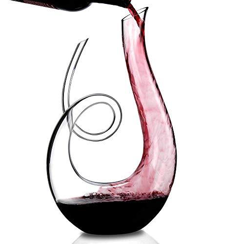 Cheers Karaffe Rotwein Dekanter Kristallglas Wine Decanter Dekantierer Glas Weinkaraffe 1,2 Liter...