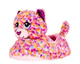 Esquire Footwear Build-A-Bear Workshop Girls' Character Slippers (XX-Large 5-6, Confetti Leopard)