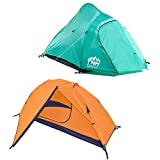Rakaia Designs 2 Person Camping & Backpacking Tent with Carry Bag and Stakes - Portable Lightweight Easy Setup Hiking Tent