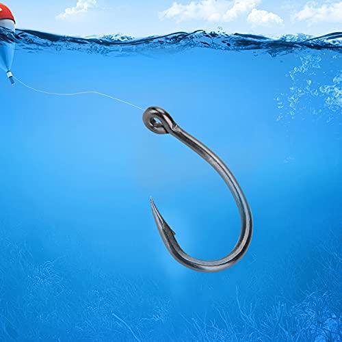 Ami da Pesca, Amo da Pesca in Mare in Acciaio al Carbonio spinato Perforato Portatile da 30 Pezzi Amo da Pesca per la Pesca in Mare, Super Piercing e Durevole(6#)