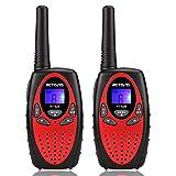 Retevis RT628 Talkie Walkie Enfants PMR446 8 Canaux Volume Ajustable 10 Sonneries VOX Talkie Walkie Fille Jouet Cadeau pour Enfants (Rouge, 1 Paire)