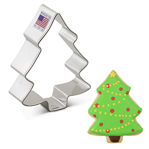"""Ann Clark Cookie Cutters Snow Covered Tree Cookie Cutter, 3.5"""""""