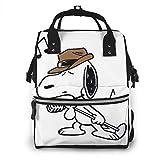 Bolsa de pañales Singer Snoopy Mommy Bag multifunción de gran capacidad de viaje mochila de pañales