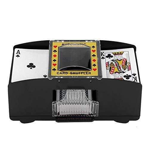 Automatischer Kartenmischmaschine, UNISOPH Elektronische Mischmaschine für Spielkarten bis 91 mm, Games Kartenmischmaschine für Casino Poker Playing Cards