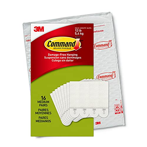 Command PH204-16NA, Holds up to 12 lbs, 16 Pairs (32, Indoor Use...
