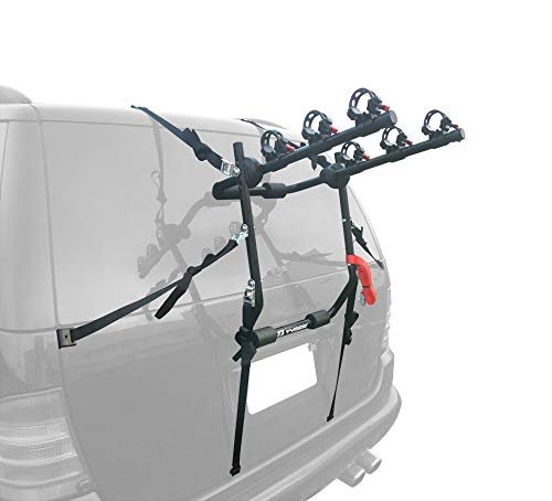 Tyger Auto TG-RK3B203S Deluxe 3-Bike Trunk Mount Bicycle Rack. (Compatible with Most Sedans/Hatchbacks/Minivans and SUVs.)
