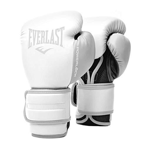 EVERLAST Powerlock 2R - Guantes de Entrenamiento (250 g), Color Blanco