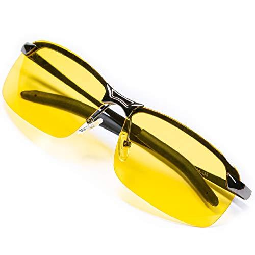 Night Driving Glasses Anti Glare Polarized With Stylish Case - Night Vision Glasses - Tac Glasses - Night Glasses for Driving - Nighttime Glasses