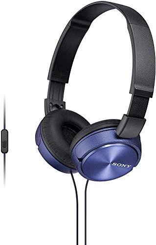 Sony MDR-ZX310APL - Auriculares de diadema cerrados (con micrófono, control remoto integrado), azul