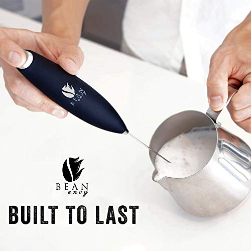 Product Image 2: Bean Envy Milk Frother Handheld - Perfect For The Best Latte - Whip Foamer - Includes <a href=