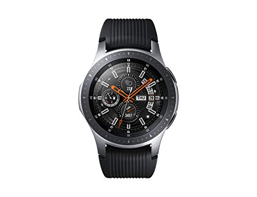Samsung Galaxy Watch Smartwatch Android, Bluetooth, Fitness Tracker e GPS, Processore Dual Core 1.15 GHz, Resistente all'Acqua fino a 5 ATM, Argento, 46 mm, Versione Italiana