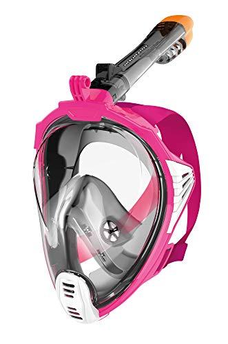 AQUAZON Sirius Tauchmaske Vollgesichtsmaske für Erwachsene und Kinder, Farbe :Pink, Größe Full Face Masken:Junior S