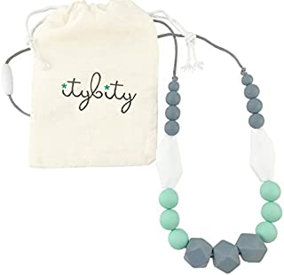 The Original Baby Teething Necklace for Mom, Silicone Teething Beads, 100% BPA Free..