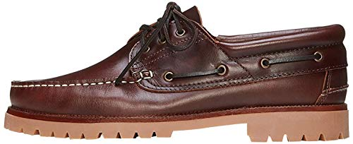 find. AMZ142 - Leather Náuticos, Zapatos para Hombre,Marron, 47 EU